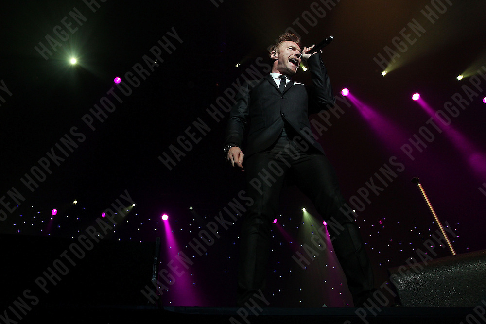 WELLINGTON, NEW ZEALAND - FEBRUARY 02:  Ronan Keating performs live at TSB Arena on February 2, 2012 in Wellington, New Zealand.  (Photo by Hagen Hopkins/Getty Images) *** Local Caption *** Ronan Keating