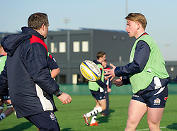 Bristol Academy player during warm-up - Mandatory by-line: Paul Knight/JMP - 21/01/2017 - RUGBY - SGS Wise Campus - Bristol, England - Bristol Academy U18 v Saracens Academy U18 - Premiership Rugby Academy U18 League