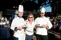 The Victoria Chamber of Commerce food and wine event, YYJ Eats, invited Victoria business people and residents to sample a variety of local vendors' delicious offerings at Market Square on a sunny summer evening.