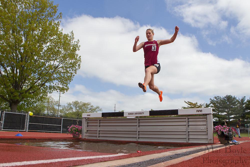 3000 meter Women's steeplechase at the NJAC Track and Field Championships at Richard Wacker Stadium on the campus of  Rowan University  in Glassboro, NJ on Sunday May 5, 2013. (photo / Mat Boyle)