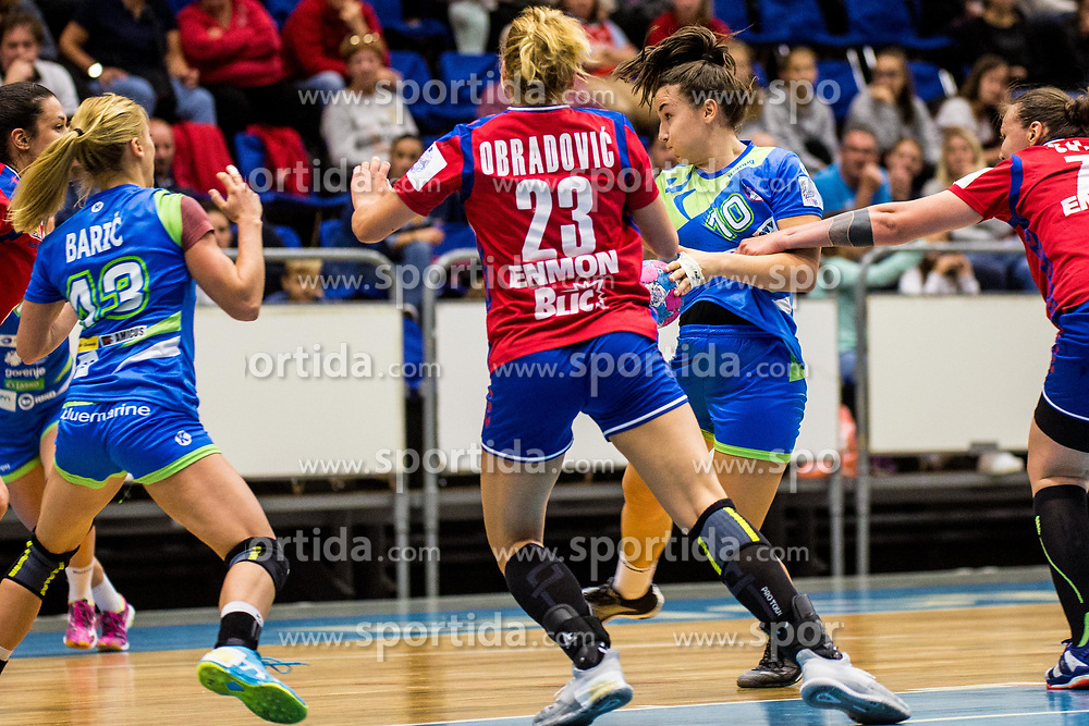 Tjasa Stanko of Slovenia during friendly game between national teams of Slovenia and Serbia on 29th of September, Celje, Slovenija 2018