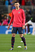 Barcelona defender Clement Lenglet (15) during the Champions League quarter-final leg 2 of 2 match between Barcelona and Manchester United at Camp Nou, Barcelona, Spain on 16 April 2019.