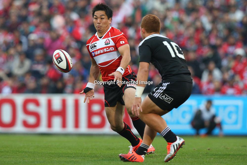 Kosei Ono (JPN), <br /> NOVEMBER 8, 2014 - Rugby : <br /> International rugby friendly match <br /> between Japan XV 18-20 Maori All Blacks <br /> at Chichibunomiya Rugby Stadium, Tokyo, Japan. <br /> (Photo by Shingo Ito/AFLO SPORT)