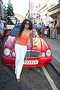 SANDRA FERNANDEZ, Pimlico Road party. 22 June 2010. -DO NOT ARCHIVE-© Copyright Photograph by Dafydd Jones. 248 Clapham Rd. London SW9 0PZ. Tel 0207 820 0771. www.dafjones.com.