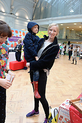 JADE PARFITT and her son JACKSON at the Plusher Fair, Lindley Hall, Royal Horticultural Halls, Vincent Square, London, on 9th November 2013.