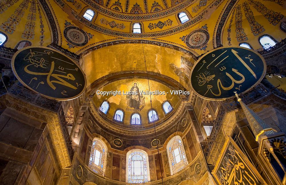 Hagia Sophia.apse. Istanbul. Turkey