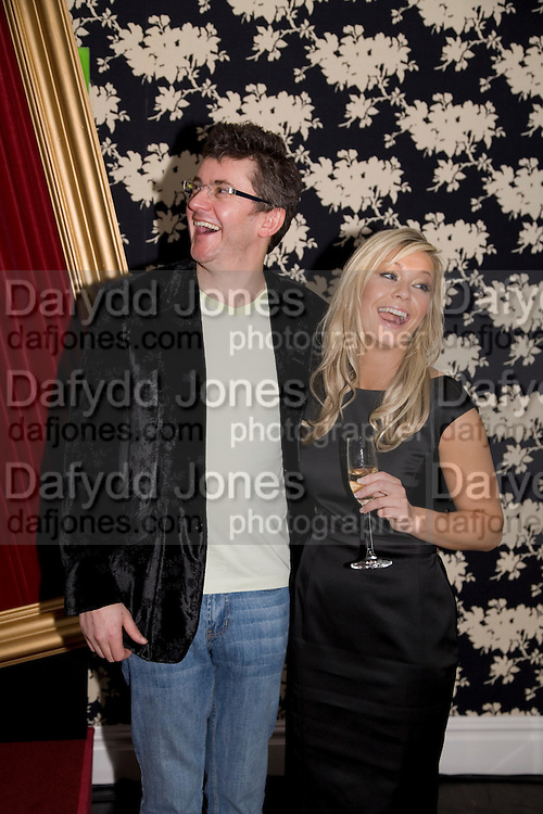 SUZANNE SHAW AND JOE PASQUALE, Bingo Lotto launch party. Soho Hotel Richmond Mews. London. 29 February 2008.  *** Local Caption *** -DO NOT ARCHIVE-© Copyright Photograph by Dafydd Jones. 248 Clapham Rd. London SW9 0PZ. Tel 0207 820 0771. www.dafjones.com.
