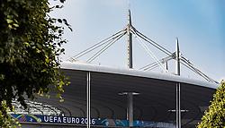 08.06.2016, Stade de France, Paris, FRA, UEFA Euro, Frankreich, Vorberichte, im Bild Aussenansicht des Stade de France mit dem UEFA EURO 2016 Branding // Exterior view of Stade de France with the UEFA Euro 2016 branding during preperation for the UEFA EURO 2016 France. Stade de France in Paris, France on 2016/06/08. EXPA Pictures © 2016, PhotoCredit: EXPA/ JFK