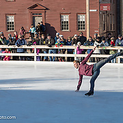 Adam Kaplan performs with Ice Dance International at Strawbery Banke, Portsmouth NH on Jan 14, 2017
