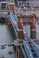 Roebling Suspension Bridge in Cincinnati Ohio
