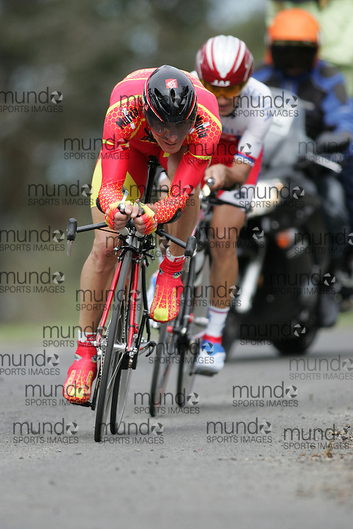 (Geelong, Australia---30 September 2010) Palacios GUTIERREZ of Spain (ESP) races to 17th place in the Elite Men's Time Trial race at the 2010 UCI Road World Championships [2010 Copyright Sean Burges / Mundo Sport Images -- www.mundosportimages.com]