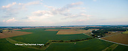 63893-03412 Sunset in rural Illinois - panoramic aerial - Marion Co. IL