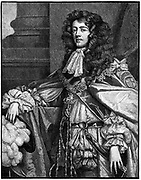 James, Duke of Monmouth (1649-1685) illegitimate son of Charles II and Lucy Walter. Pretender to the thrones of Scotland and England. After failure of Monmouth Rebellion, beheaded on Tower Hill. Engraving