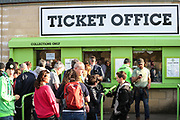 Ticket office queues during the EFL Sky Bet League 2 second leg Play Off match between Forest Green Rovers and Tranmere Rovers at the New Lawn, Forest Green, United Kingdom on 13 May 2019.