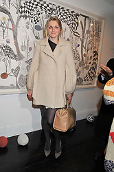 SOPHIE DAHL at  private view of art works by Annie Morris entitled 'There is A Land Called Loss' held at Pertwee Anderson & Gold Gallery, 15 Bateman Street, London W1 on 2nd February 2012.