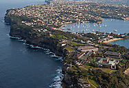 The coast line near Sydney.