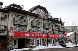 02.02.2015, Vail, USA, FIS Weltmeisterschaften Ski Alpin, USA, FIS Weltmeisterschaften Ski Alpin, Vail Beaver Creek 2015, im Bild Swiss Ski Haus // before the FIS Ski World Championships 2015 at Vail, United States on 2015/02/02. EXPA Pictures © 2015, PhotoCredit: EXPA/ SM<br /> <br /> *****ATTENTION - OUT of GER*****