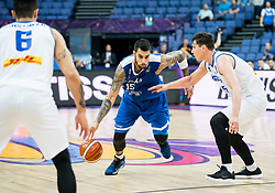 Georgios Printezis of Greece vs Pavel Ermolinskij of Iceland during basketball match between National Teams of Greece and Iceland at Day 1 of the FIBA EuroBasket 2017 at Hartwall Arena in Helsinki, Finland on August 31, 2017. Photo by Vid Ponikvar / Sportida