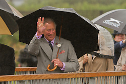 © Licensed to London News Pictures. 02/07/2012. Camborne, UK. Prince Charles waves to crowd to Heartlands. The Duke and Duchess of Cornwall are on a three day tour of Cornwall and the Isles of Scilly. Photo credit : Ashley Hugo/LNP