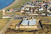 Nederland, Noord-Holland, Den Helder, 11-12-2013; Huisduinen, Fort Kijkduin.<br /> Historical fortress, coastal battery, North Holland<br /> luchtfoto (toeslag op standaard tarieven);<br /> aerial photo (additional fee required);<br /> copyright foto/photo Siebe Swart.