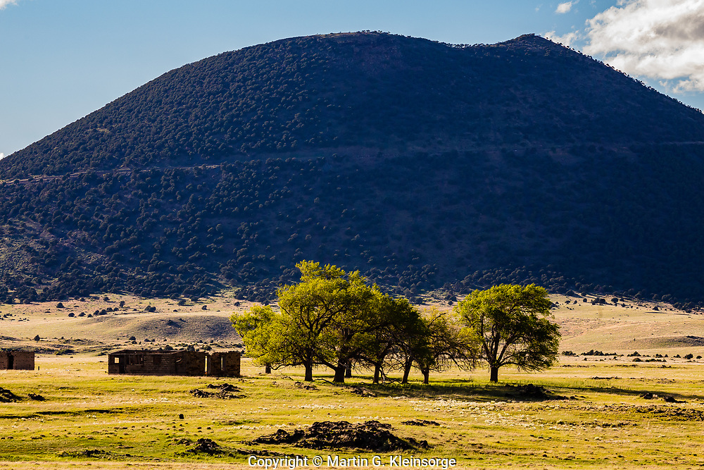 Southeast side of 8,182 ft.  Capulin Volcano.  Capulin Volcano National Monument, New Mexico.  USA