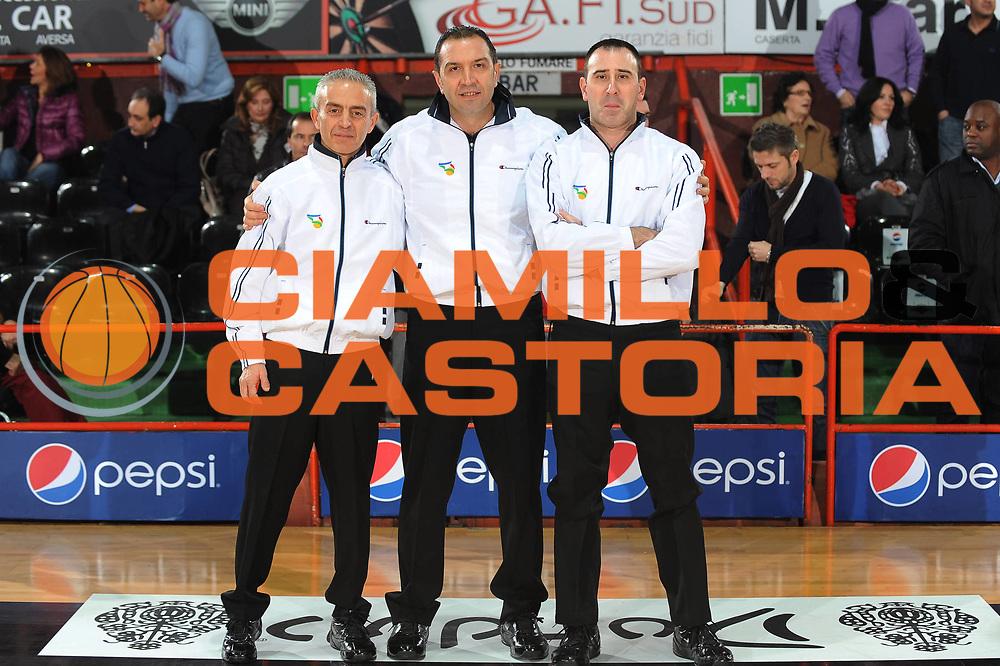 DESCRIZIONE : Caserta Lega A 2009-10 Pepsi Caserta Cimberio Varese<br /> GIOCATORE : Arbitri<br /> SQUADRA : Pepsi Caserta<br /> EVENTO : Campionato Lega A 2009-2010 <br /> GARA : Pepsi Caserta Cimberio Varese<br /> DATA : 03/01/2010<br /> CATEGORIA : Arbitri Referees<br /> SPORT : Pallacanestro <br /> AUTORE : Agenzia Ciamillo-Castoria/GiulioCiamillo<br /> Galleria : Lega Basket A 2009-2010 <br /> Fotonotizia : Caserta Campionato Italiano Lega A 2009-2010 Pepsi Caserta Cimberio Varese<br /> Predefinita :