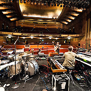Portugal. The Man rehearse during soundcheck at The Wiltern Theatre on July 12, 2013 in Los Angeles, California.