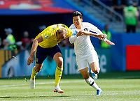 Andreas Granqvist (Sweden) and Heungmin Son (Korea Republic)<br /> Nizhny Novgorod 16-06-2018 Football FIFA World Cup Russia  2018 <br /> Sweden - South Korea / Svezia - Corea del Sud <br /> Foto Matteo Ciambelli/Insidefoto
