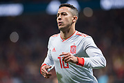 Thiago of Spain celebrates a goal during the International friendly game football match between Spain and Argentina on march 27, 2018 at Wanda Metropolitano Stadium in Madrid, Spain - Photo Rudy / Spain ProSportsImages / DPPI / ProSportsImages / DPPI