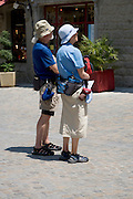 two very typical outgoing dressed tourists