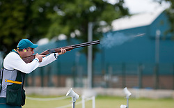 Keith Ferguson , Australia,  in action in the  Men's Skeet at London 2012 Olympics, Monday, 30th July 2012.  Photo by: i-Images