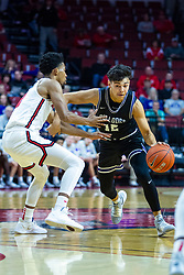 NORMAL, IL - October 23: Hunter Strait drives on Zach Copeland during a college basketball game between the ISU Redbirds and the Truman State Bulldogs on October 23 2019 at Redbird Arena in Normal, IL. (Photo by Alan Look)