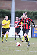 Catharine Cooper during the Women's FA Cup match between Watford Ladies FC and Brighton Ladies at the Broadwater Stadium, Berkhampstead, United Kingdom on 1 February 2015. Photo by Stuart Butcher.
