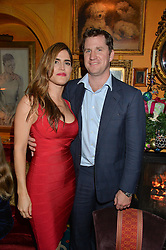 ED HAUGHEY and Cristina Yepez at a Thanksgiving dinner hosted by Alexander Gilkes of Paddle8 at Annabel's, 44 Berkeley Square, London on 23rd November 2016.