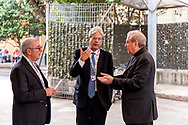 ROME, ITALY - SEPTEMBER 01: New vicar of Rome, Angelo De Donatis, Italian PM Paolo Gentiloni, the director of Caritas Rome, Msgr. Enrico Feroci, during visit the Citadel of the Charity of the Diocesan Caritas of Rome on September 1, 2017 in Rome, Italy. Italian PM Paolo Gentiloni visited the Caritas to express the gratitude of all Italians to the world of volunteering, to those who work in favour of solidarity.