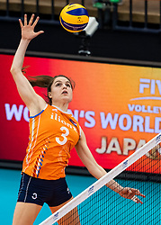 15-10-2018 JPN: World Championship Volleyball Women day 16, Nagoya<br /> Netherlands - USA 3-2 / Yvon Belien #3 of Netherlands