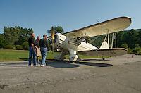 Lakes Biplane at Newport, NH airport.