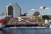 The 440 American Flyer takes off  from the Red Bull Flugtag ramp in front of the Maryland Science Center in Baltimore, MD on October 21, 2006.