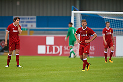 NUNEATON, ENGLAND - Sunday, July 30, 2017: Liverpool's Jordan Williams and Herbie Kane show a look of dejection after PSV Eindhoven score the second goal to make the score 1-2 during a pre-season friendly between Liverpool and PSV Eindhoven at the Liberty Way Stadium. (Pic by Paul Greenwood/Propaganda)