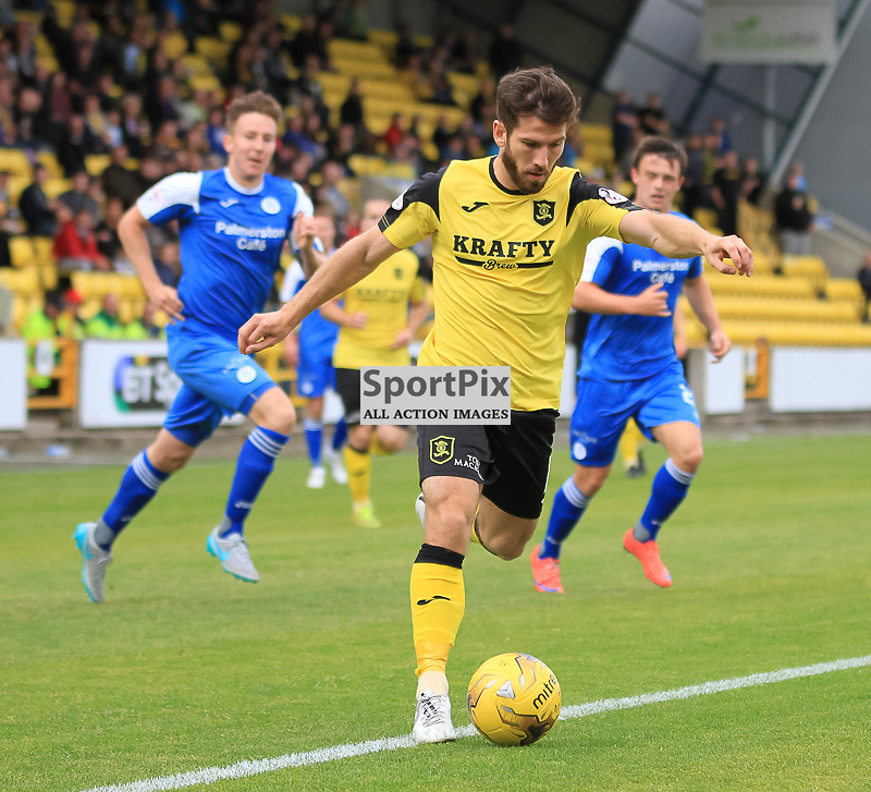 Livingston V Queen of the South Scottish Championship 15 August 2015;  Livingston's Liam Buchanan during the Livingston V Queen of the South Scottish Championship match played at The Energy Assets Arena, Livingston.