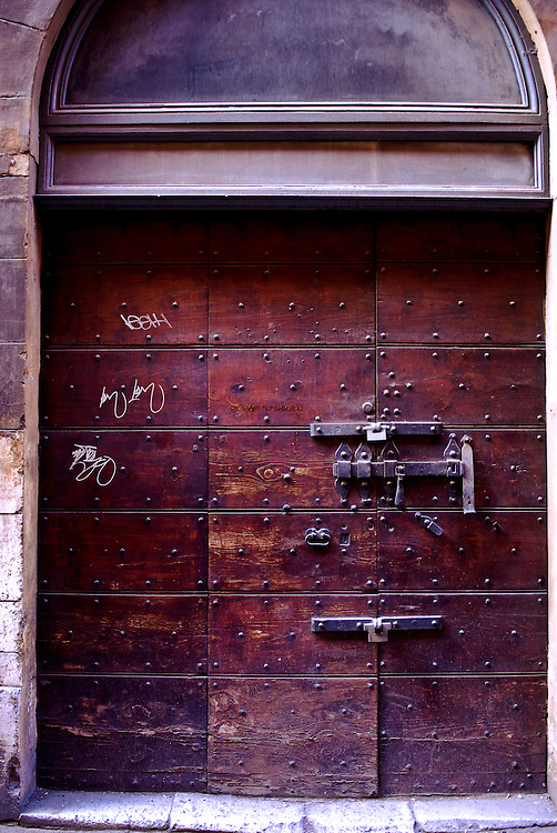 A large door in Rome, Italy on Oct. 28, 2007.
