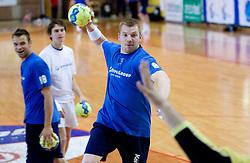 Matjaz Mlakar at practice of Slovenian Handball Men National Team, on June 4, 2009, in Arena Kodeljevo, Ljubljana, Slovenia. (Photo by Vid Ponikvar / Sportida)
