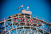 The cyclone roller coaster in Coney Island, Brooklyn, New York, 2010.