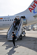 Passenger disembark from a AirEuropa Boing 737-800
