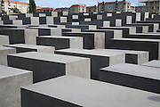 The memorial to the murdered jews of Europe in Berlin Germany