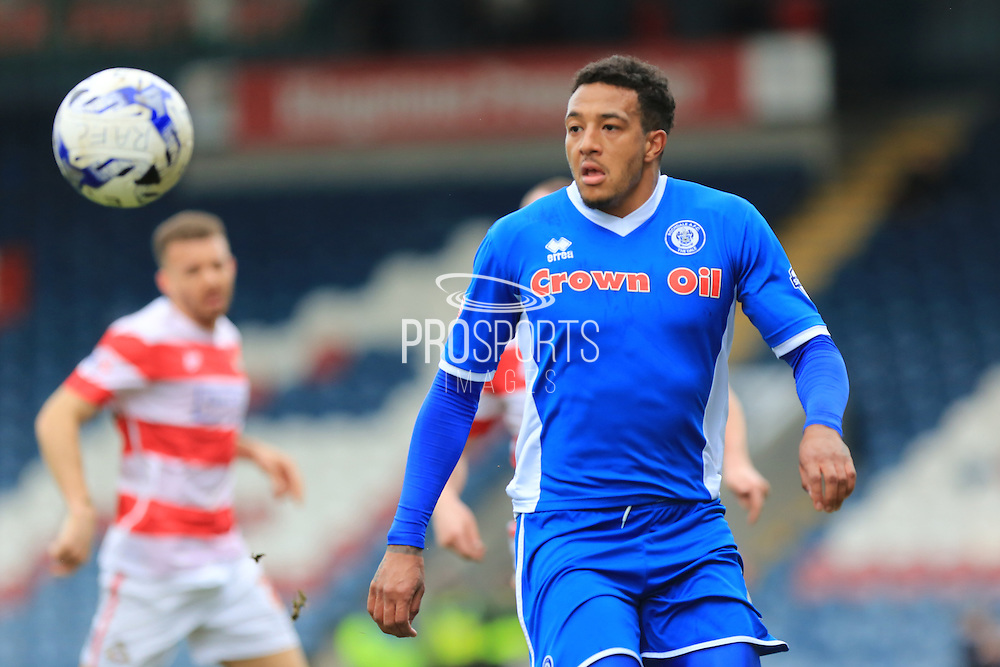 Nathaniel Mendez-Laing during the Sky Bet League 1 match between Rochdale and Doncaster Rovers at Spotland, Rochdale, England on 2 April 2016. Photo by Daniel Youngs.
