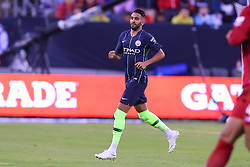 July 25, 2018 - East Rutherford, NJ, U.S. - EAST RUTHERFORD, NJ - JULY 25:  Manchester City forward Riyad Mahrez (26) during the first half of the International Champions Cup Soccer game between Liverpool and Manchester City on July 25, 2018 at Met Life Stadium in East Rutherford, NJ.  (Photo by Rich Graessle/Icon Sportswire) (Credit Image: © Rich Graessle/Icon SMI via ZUMA Press)