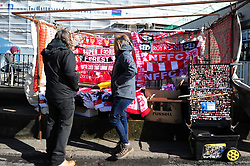 General view of a street seller prior to Nottingham Forest's match against Hull City