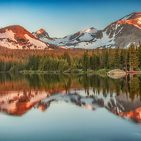 Summer sunrise at Brainard Lake, Colorado.