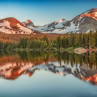 Summer sunrise at Brainard Lake, Colorado.